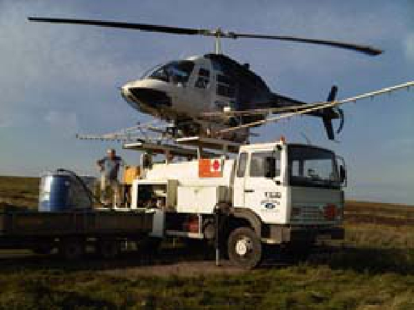 Helinorth  Helicopter bracken control on moorland areas