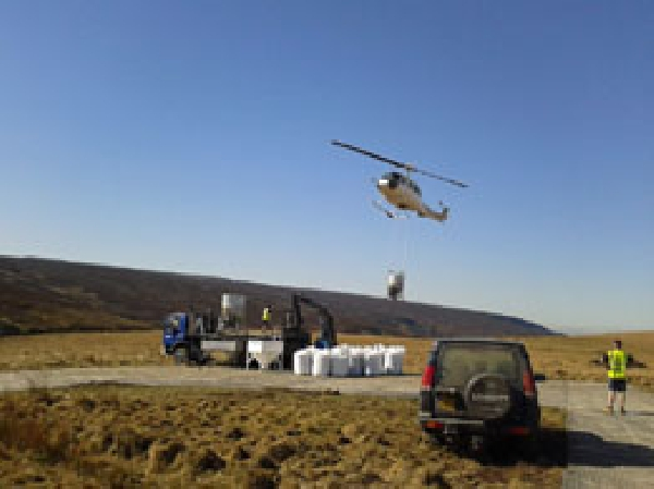Helinorth Helicopter seeding spraeding service