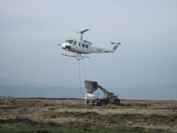 Helinorth Helicopter Aerial lime spreading service