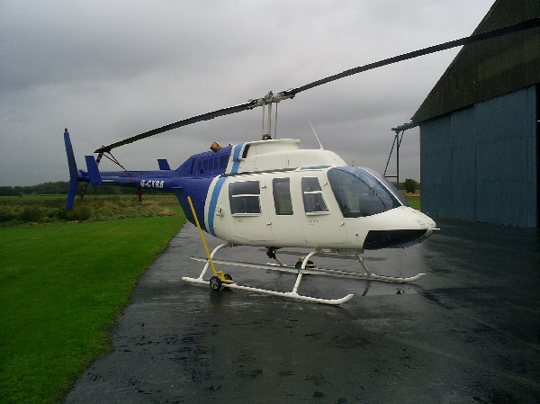 Helinorth wheels for a Longranger helicopter