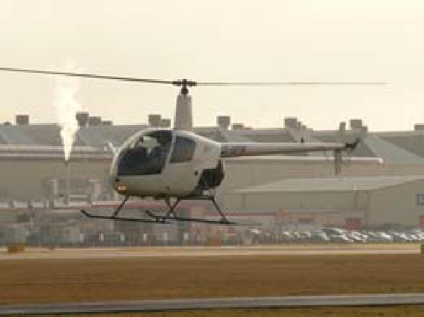 Helinorth Helicopter PPL Training - flying at the airport